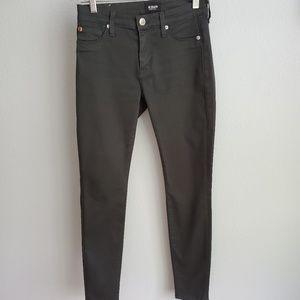 Hudson Nico midi super skinny dark gray jeans 25